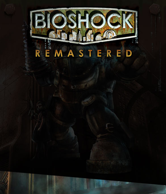 Big Daddy, Little Sister faded out with BioShock Remastered logo