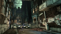 Arkham on a rainy night: not a good place to leave your car.