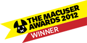 MacUser Awards 2012 Entertainment Software Of The Year Winner badge