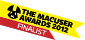 MacUser Awards 2012 Entertainment Software Of The Year Finalist badge