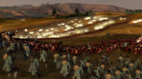 An epic engagement between the British and Bavarian armies places thousands of troops on screen.