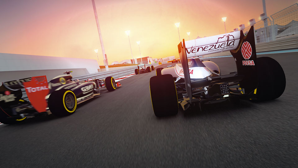 The Yas Marina Circuit is at its most spectacular at sunset.