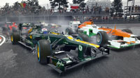F1 2012's dynamic weather system lends an unpredictable edge to competition.
