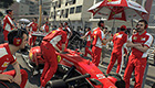 Ferrari mechanics prepare the SF15-T for the perfect start at Monaco.