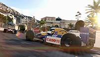 A classic Williams navigates Casino corner on the Circuit de Monaco.