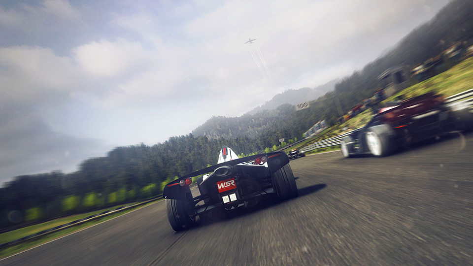 The single-seater BAC Mono demonstrates its incredible acceleration on a downhill stretch.