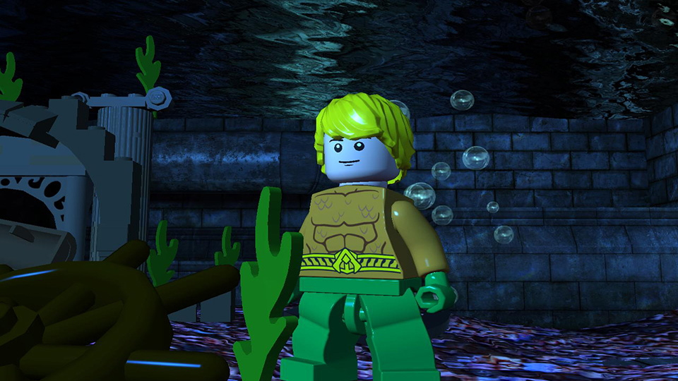 Aquaman models the world's first underwater hair gel.