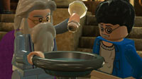 Dumbledore shows Harry how to add a memory to a Pensieve.