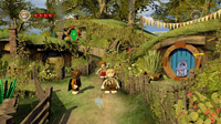 To begin their quest, Frodo and Sam must leave their peaceful home in the Shire.
