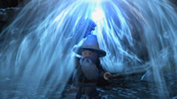 Gandalf's Staff of Power shields him from the evils of Moria.