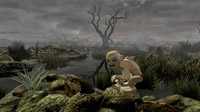 Gollum promises that the Dead Marshes is the best way to Mordor, Hobbitses...