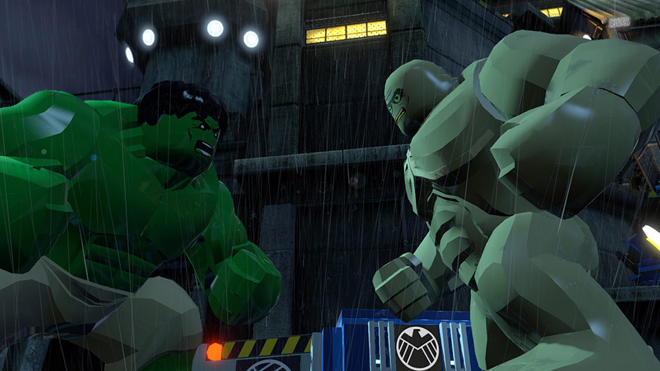 Hulk faces off with Abomination in a battle of the Big Figs.