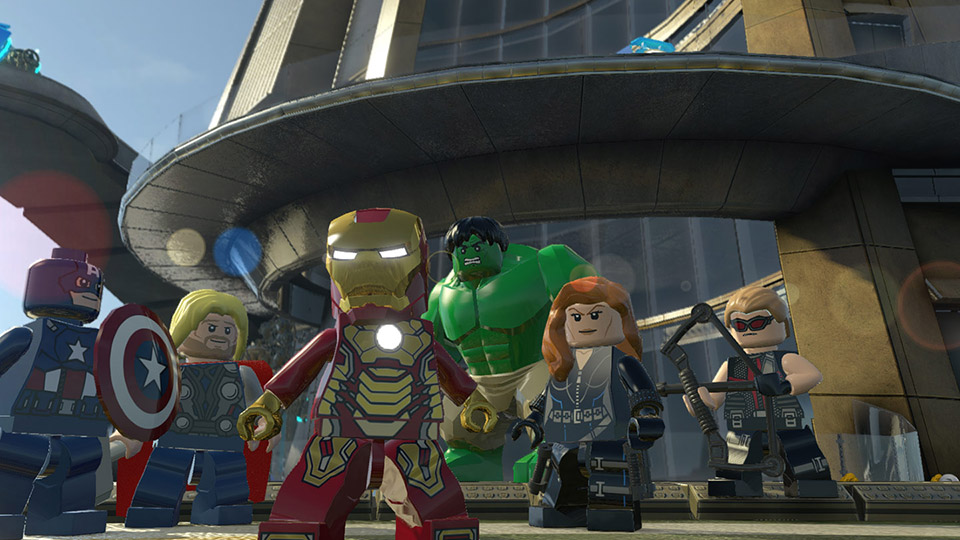 Ready for battle, the Avengers assemble at Stark Tower.