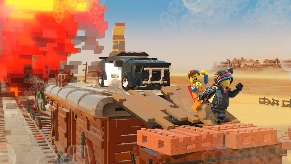 With Bad Cop in hot pursuit, Emmet and Wyldstyle go off the rails!