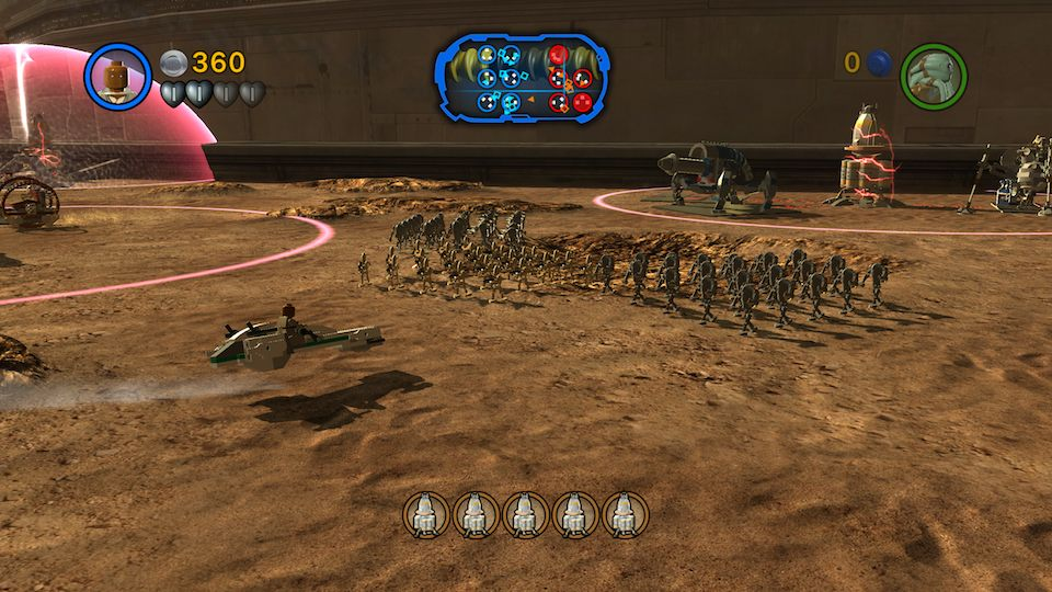 Driving a speeder while commanding an army of clones is even more fun than it sounds.