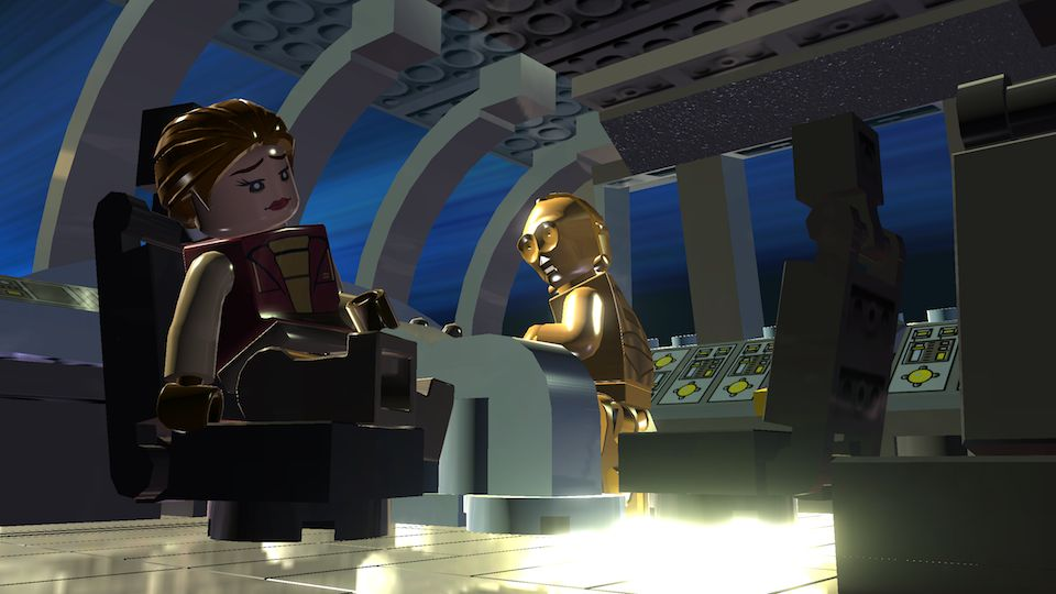 Padmé endures another one of C3PO's stories.