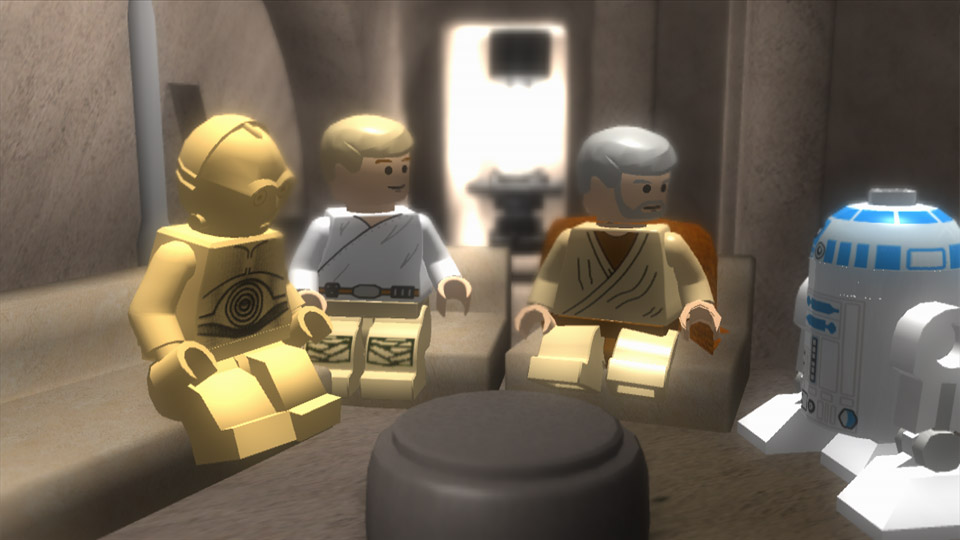 LEGO Obi-Wan was getting annoyed at receiving all his messages by Droid, but sadly he was too small to use an iPhone.