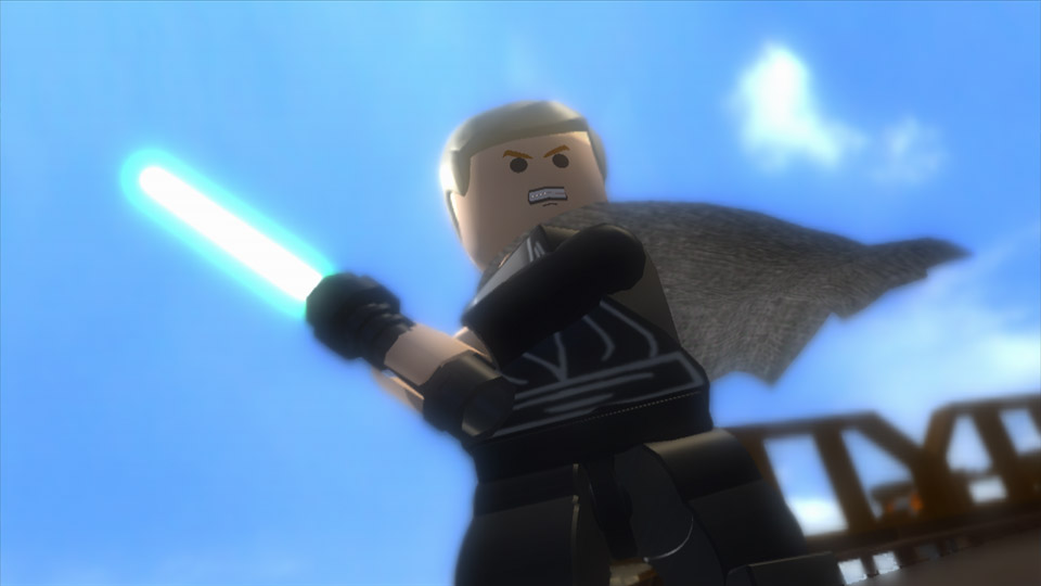 Don't get in the way of that lightsaber, or you'll be broken into blocks.