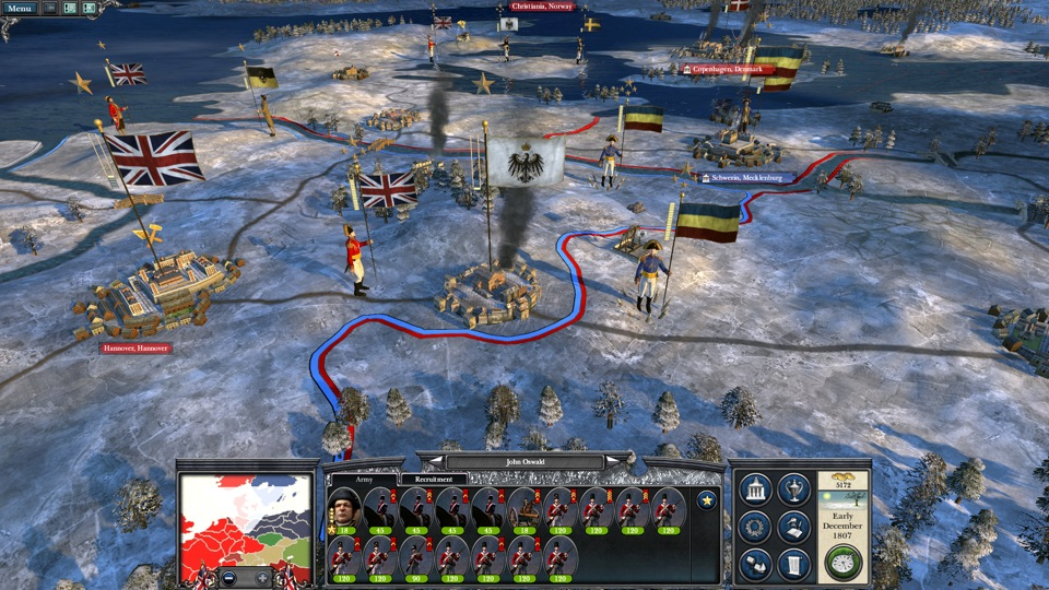 Moving your troops across northern Europe between November and March may leave them vulnerable to the attentions of General Winter.