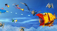 Rayman and friends take to the skies against a massive hunger-crazed bird.