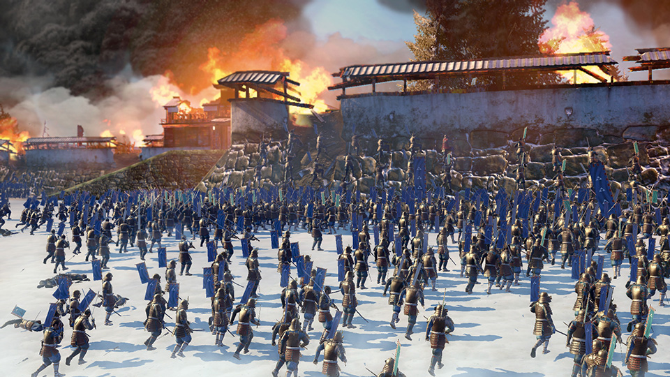 Snow hinders even the strongest warriors, but these samurai have breached the fortress walls.