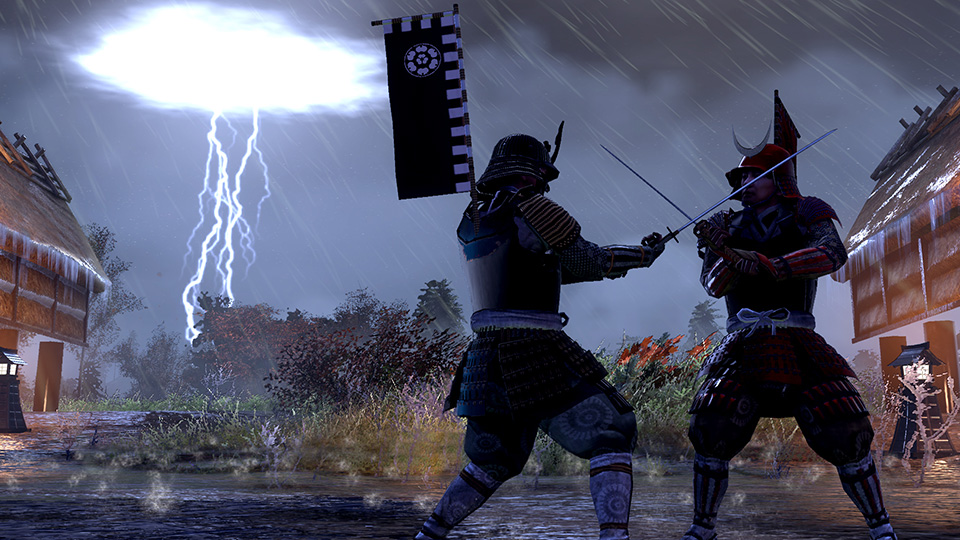 Under ominous skies, two samurai fight to the death.