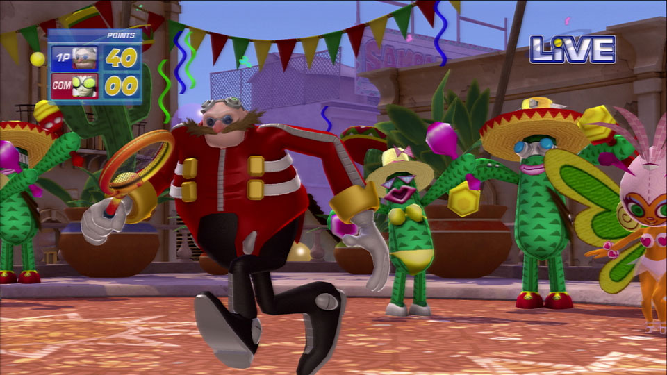 Dr. Eggman takes winning far too seriously to be distracted by dancing cacti.