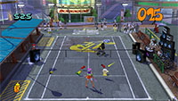 The speakers on the Jet Set Radio court pump out an unbeatable mix of beats, bass and balls.