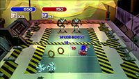 Eggman's bomb-throwing robots don't even need rackets to give Sonic plenty of trouble on court.