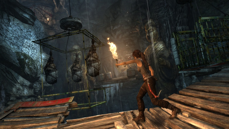 Lara explores an ancient tomb as she heads further into the heart of the island.