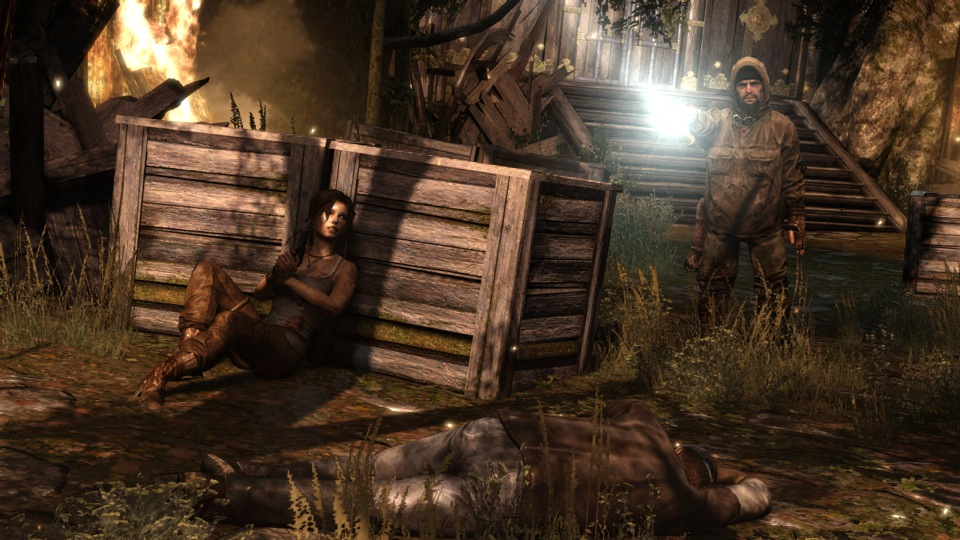 Separated from her ship's crew, Lara hides from a murderous hunter.