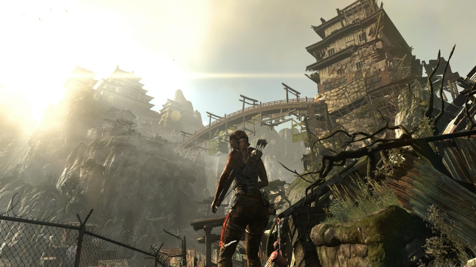 Deep within the island of Yamatai, Lara discovers an ancient monastery-turned-fortress.