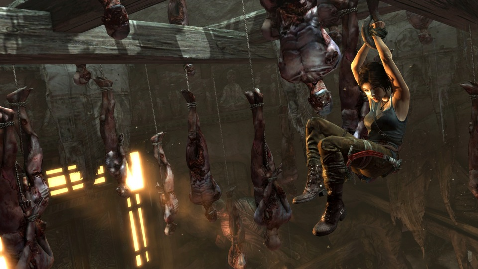 Trapped in a forest of hanging corpses, Lara must keep her head and use her athleticism to escape.