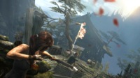 Lara can upgrade her weapons to hit harder and handle better - useful when the island's inhabitants start hurling molotovs at her.