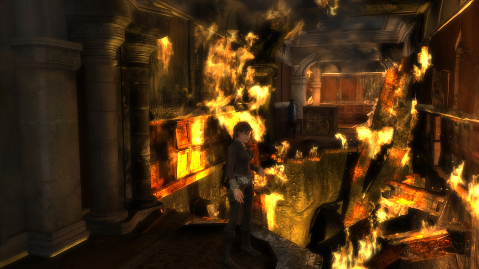 With Croft Manor in flames, Lara vows to find the fire-starters.