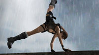 Lara's athletic prowess allows her to conquer every obstacle.