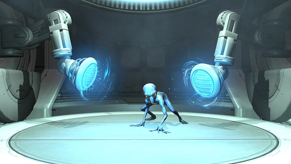 The alien containment facility allows for the capture and interrogation of live aliens.