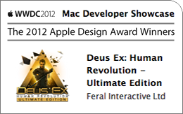 Deus Ex: Human Revolution - Ultimate Edition Receives an Apple Design Award