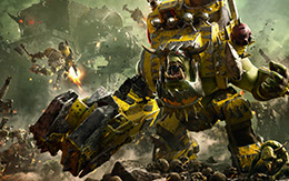 Pledge allegiance to the Orks in Warhammer 40,000: Dawn of War III for macOS and Linux