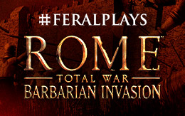 The destiny of an empire. #FeralPlays ROME: Total War - Barbarian Invasion for iPad