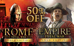 New trade routes opened. Total War games now half price!