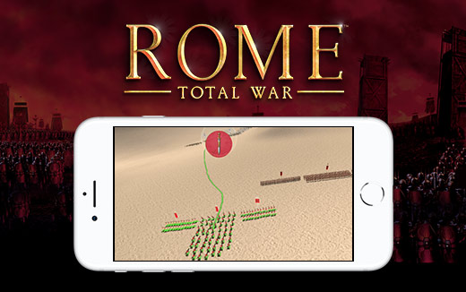 L'interfaccia nelle battaglie di ROME: Total War per iPhone