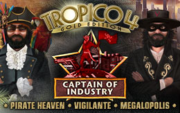 El Presidente takes the helm in the Tropico 4: Captain of Industry DLC pack, out now!