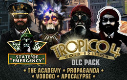 The State of Emergency DLC pack for Tropico 4 is out now on Mac!