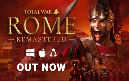 The bright light of a new dawn shines on the Roman Empire! Total War: ROME REMASTERED is out now for Windows, macOS & Linux