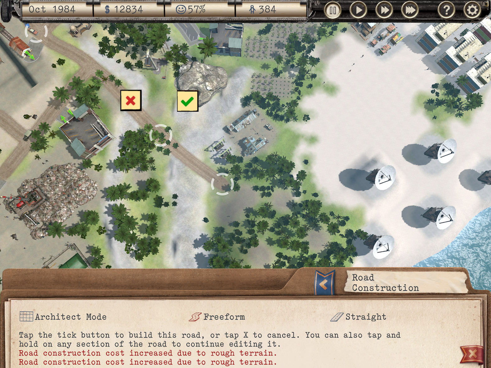 Tropico! — Easy road placement for iPad