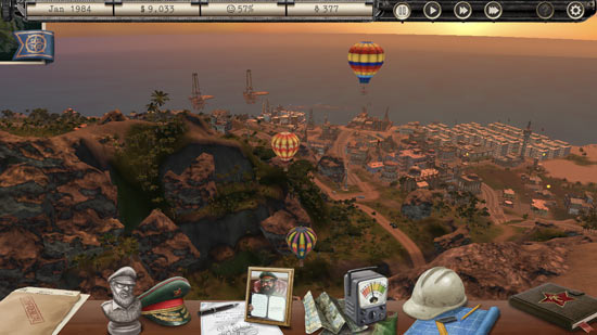 Tropico for iPhone balloons screenshot
