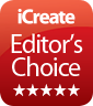 iCreate Editor's Choice badge